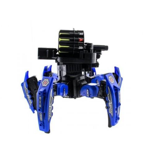 Робот-паук р/у Keye Space Warrior ракеты, диски, лазер (синий)