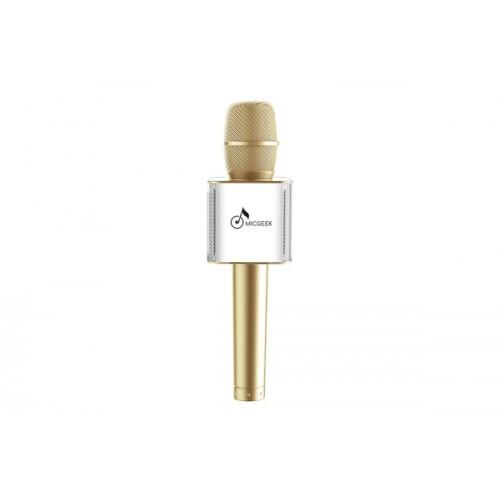 Микрофон для караоке MicGeek Q9 (золотой)