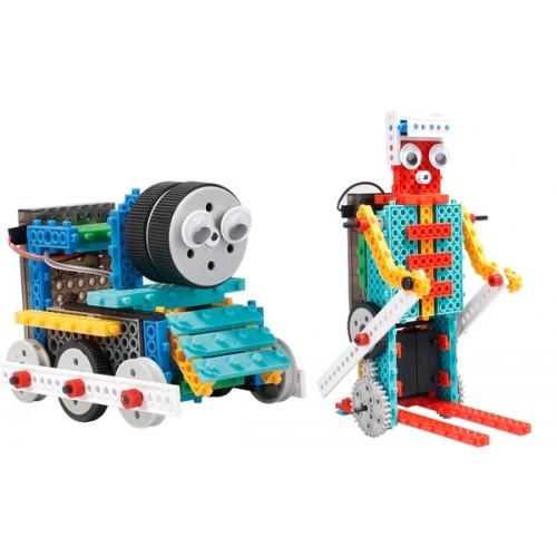Конструктор LongYeah R722 4-в-1 (паровозик, машинка, лыжник, робот)