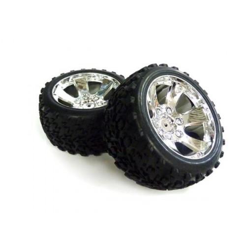 1:10 Tire Unit (Chromed) 2P