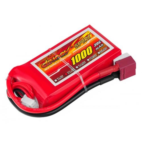Аккумулятор Dinogy Li-Pol 1000mAh 11.1V 3S 30C 18x35x68мм T-Plug