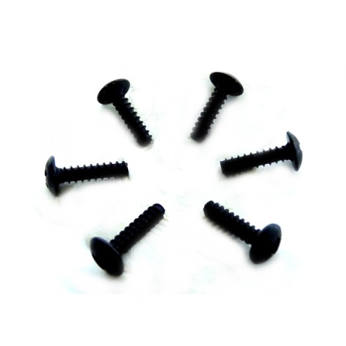 3*12 Round Head Self-Tapping Screws 6P