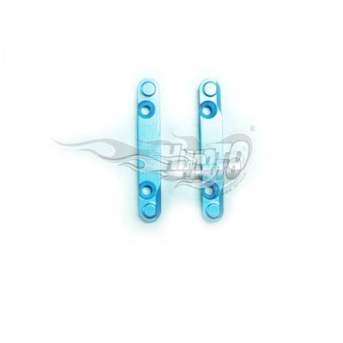 (86627) Blue Alum F/R Lower Susp Arm Holders 2P
