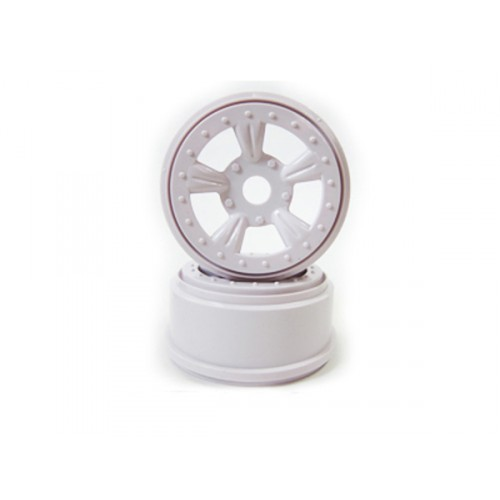 (8E132W) White Rims For Short Course Truck 2P